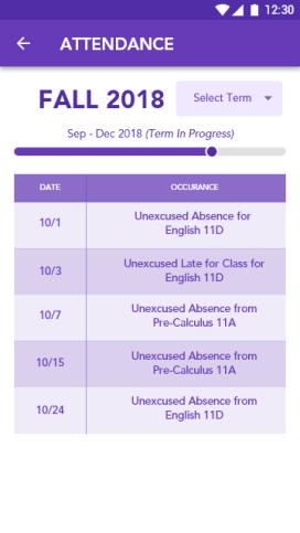 Academics Main - Attendance